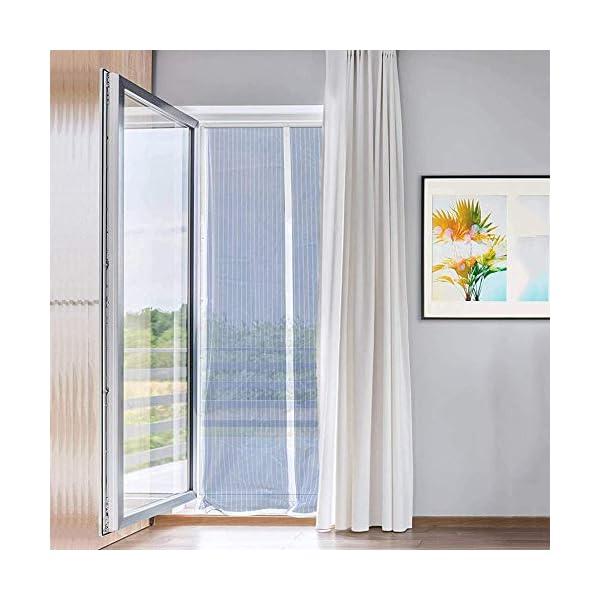 RSIOSL Zanzariera Magnetica per Finestre, Zanzariere per Finestre Ultra Silenzioso Chiudi Automaticamente per Casa… 2 spesavip