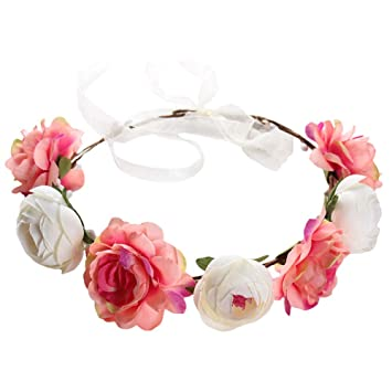Women Girls Flower Floral Hairband Headband Crown Party Bride Wedding Accessorie