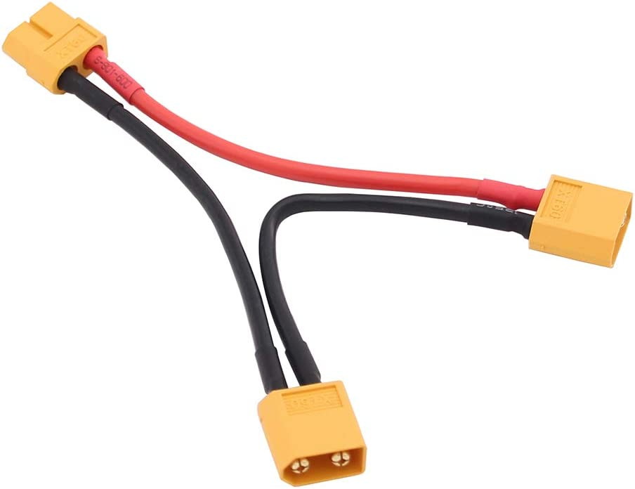 OliYin XT-60 Serial Battery Connector w// 14awg 10cm Wire for Turnigy pack of 2 XT60 Series
