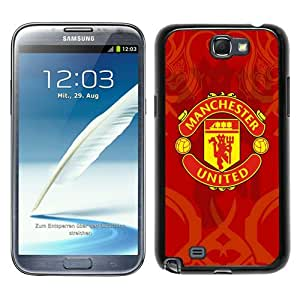 Fashionable Samsung Galaxy Note 2 N7100 Case ,Unique Designed With Manchester United 6 black Samsung Galaxy Note 2 N7100 Cover High Quality Phone Case