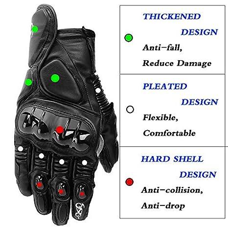 Protection Articulaire YOUANDMI Gants Moto,Cuir Homologu/é Hiver Imperm/éable Chaud Gant /À /Écran Tactile pour Hommes Et Femmes Gants pour Ski/&Escalade/&Chasse/&VTT/&Randonn/ée Anti D/érapant/&Vent