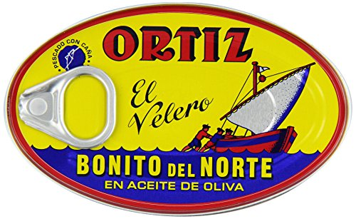 Ortiz Bonito Del Norte Tuna In Olive OIl 3.95 oz Oval Tin (Spain) 12 ()