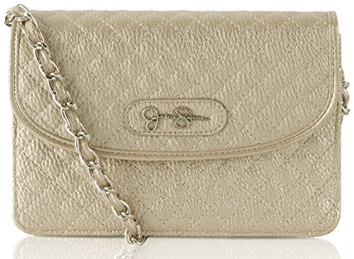 Jessica Simpson Katie Chain Wallet Crossbody Bag - Champagne