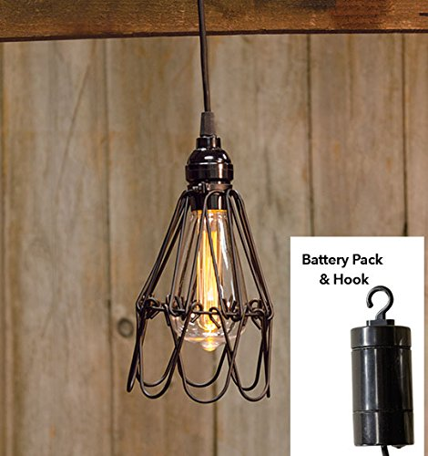 Heart of America Hanging Adjustable Battery Cage LED Lamp 7.5'' by Heart of America (Image #1)