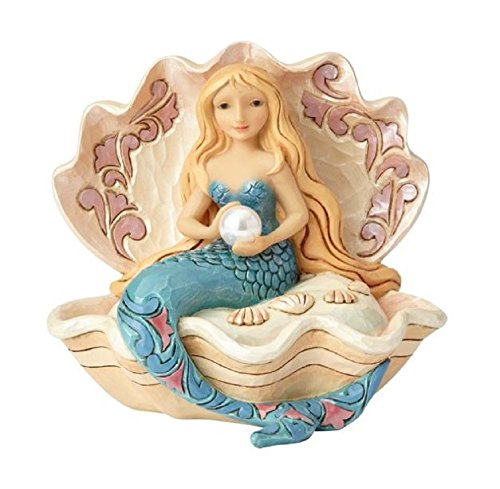 Enesco Mermaid Sitting in Clam Shell, Multi Color ()