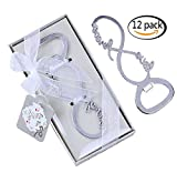 Youkwer 12 PCS Skeleton 8 Shaped Love Forever Bottle Opener with Exquisite Packaging for Wedding Party Favors Gift & Decorations Party Supplies(Infinite Love,Silver) Review