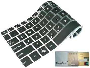 BingoBuy Semi-Black Ultra Thin Silicone Keyboard Protector Skin Cover for Dell Inspiron 15-3521 15R-5521 15-3531 M531R 15R-5537 i15RV-477B i15RV-4290BLK i15RV-8524BLK i15RV-6143BLK i15RV-10905BLK i15RV-8526BLK i15RV-8525BLK i15RV-6144BLK i15RV-6145BLK 15-3
