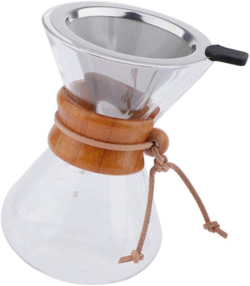 Manual Verter sobre Cafetera + Filtro de Café - 400ml: Amazon.es ...