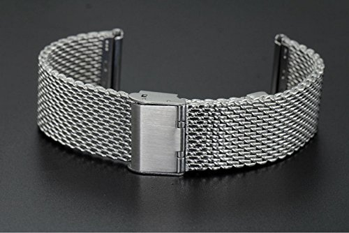 20mm Classic Luxury Milanese Loop Solid Stainless Steel Watch Bands with Adjustable Safety Clasp | Amazon.com