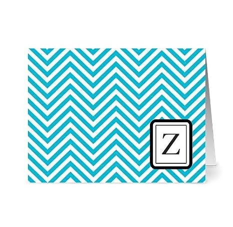 Amazon.com: Modern Cheveron Monogram - 24 tarjetas en blanco ...