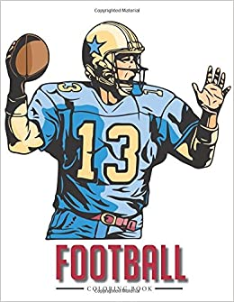 football coloring book coloring pages for kids 9781945287343 amazoncom books