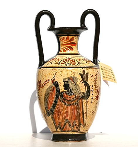 Greek Jar - Greek Ceramic Amphora Jar Vase Pot Painting Goddess Athena God Zeus