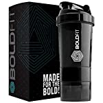 Boldfit Gym Spider Shaker Bottle 500ml with Extra Compartment, 100% Leakproof Guarantee, Ideal for Protein, Preworkout…