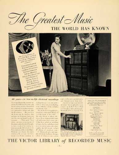 ry Recorded Music Instrument - Original Print Ad (Instrument Library)