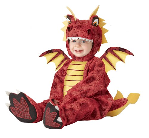 California Costumes Adorable Dragon Infant, Red/Yellow, 18-24 ()