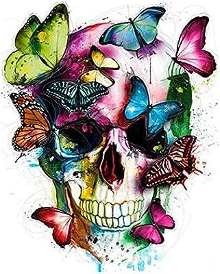 GX Pintura Decorativa Pintada a Mano del cráneo, Bricolaje Pintura ...