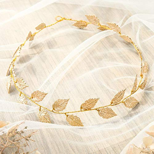 - Artio Wedding Hair Vine Accessory Leaf Bridal Headpiece for Bride and Bridesmaids (Gold)