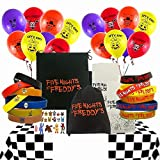 Five Nights At Freddy's Theme Party Favors Pack for 10 Guests Birthday Wristbands Balloons Bags Stickers