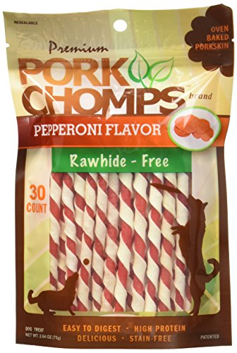 (Premium Pork Chomps Mini Twistz Pepperoni 30 Count)