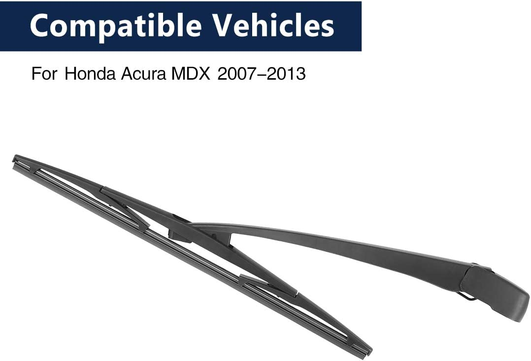 X AUTOHAUX Rear Windshield Wiper Blade Arm Set for Honda for Acura ...