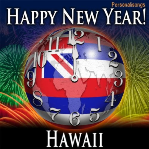 happy new year hawaii with countdown and auld lang syne