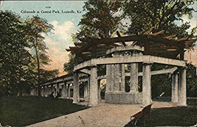 Colomnade in Central Park Louisville, Kentucky Original Vintage Postcard