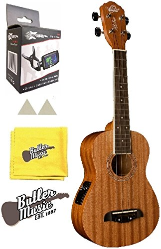 Oscar Schmidt OU2TE Tenor Size Acoustic Electric Ukulele w/Clip-on Tuner and More by Oscar Schmidt