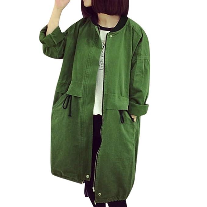 MEIbax Abrigos Mujer Invierno Abrigo de Solapa de Invierno para Mujer Trench Jacket Abrigo de Manga Larga Outwear: Amazon.es: Ropa y accesorios