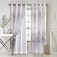 "Anady Top 2 panels/Pair Drapes,Beautiful Charming Tree Forest Sheer Windows Curtains(Grommet Top,Each Panel 42""W x 84""L)"