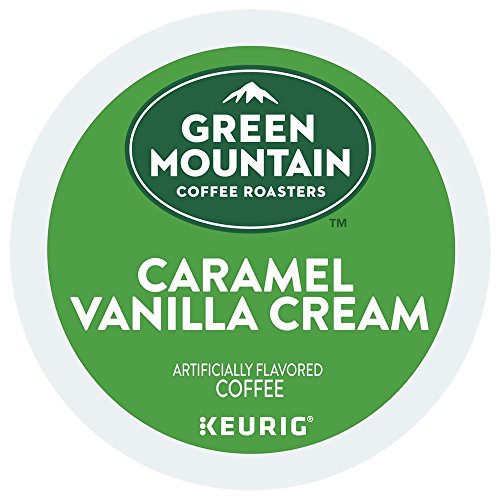 Green Mountain Coffee Roasters Caramel Vanilla Cream Coffee Keurig K-Cup Pods, 18 Count