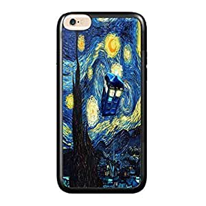 Starry Night Tardis Case Cover For SamSung Galaxy Note 2 Hard (PC) 5.5