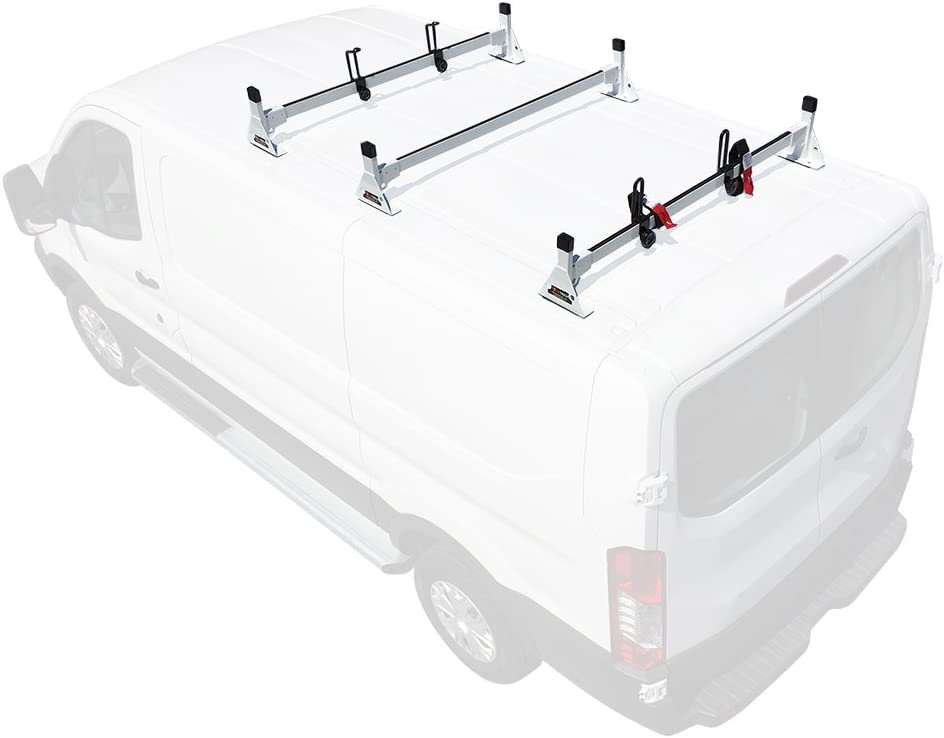 2015-On 3 bar Rack Low Profile 54 Bars Steel Black Cargo Ford Transit