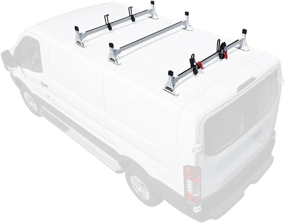 Cargo 2015-On 2 bar Rack Low Profile 54 Bars Steel White Ford Transit