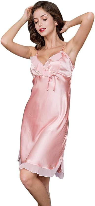 Mujer Pijama Camisón, Conjuntos Vintage Sexy Mujer Talla Grande ...