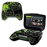 nvidia shield portable - MightySkins Protective Vinyl Skin Decal for NVIDIA Shield Portable Cover wrap Skins Sticker Green Distortion