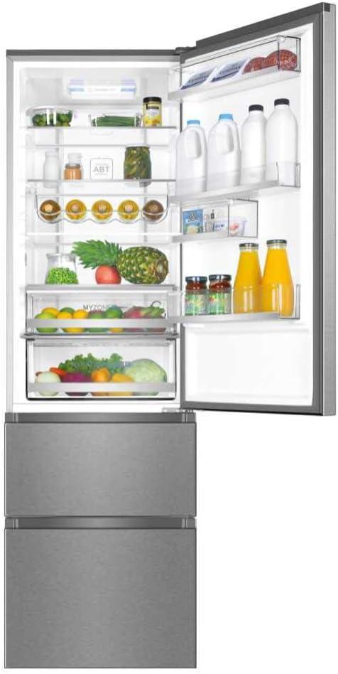 Haier A3FE737CMJ - Frigorífico combi con congelador de cajones, 2m alto, ABT Antibacterias, Motor Inverter, Libre instalación, Inox, A++: Haier: Amazon.es: Grandes electrodomésticos