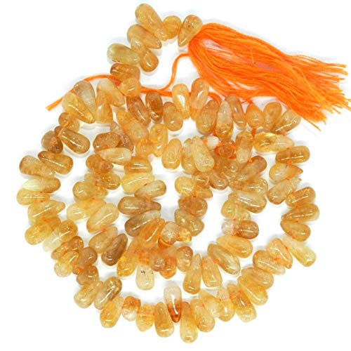 Bead Jewelry Making Golden Citrine 6mm Top-Drilled Teardrop Briolette Gemstone Beads 14