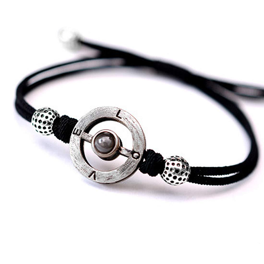 100 Languages Love Memory Handmade Rope Adjustable Couple Bracelet Memorable Gift for Sister and Lover. FREEMODE I Love You Bracelet