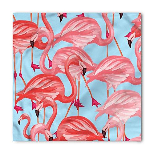 Lunarable Flamingo Bandana, Tropical Avian Animals, Unisex Head and Neck Tie