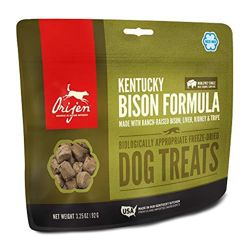 ORIJEN Freeze-Dried Dog Treats, Kentucky Bison, Biologically Appropriate & Grain Free