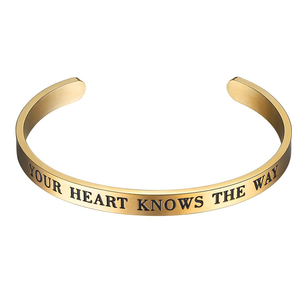 PROSTEEL Cuff Bracelet,Bangle,Your Heart Knows The