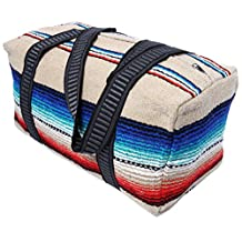 Serape Style Carry On Shoulder Tote Duffel Bag . Hand-Woven Mexican Serape Design.