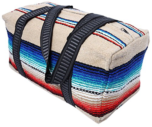 (Serape Style Carry On Shoulder Tote Duffel Bag 18