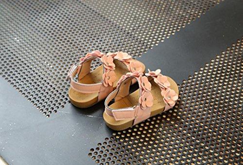 Jamicy® Mädchen Sandalen, Kinder Prinzessin Mädchen Floral Beach Casual Flache Sandalen Schuhe Rosa