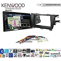 Volunteer Audio Kenwood DNX574S Double Din Radio Install Kit with GPS Navigation Apple CarPlay Android Auto Fits 2010-2015 Non Amplified Toyota Prius