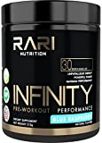 Buy Rari Nutrition Infinity Pre Workout Supplement for Energy, Focus, and Performance - No Creatine – No Artificial Flavors or Colors - Vegan Friendly - 30 Servings - Blue Raspberry