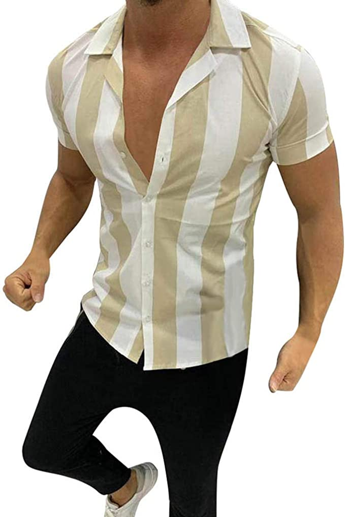 ZODOF Camisetas Hombre Mangas Corta Algodon Lino Estampada Vintage Hawai Tallas Grandes Camisa Tops Ropa Casual Deporte Moda Confort Verano