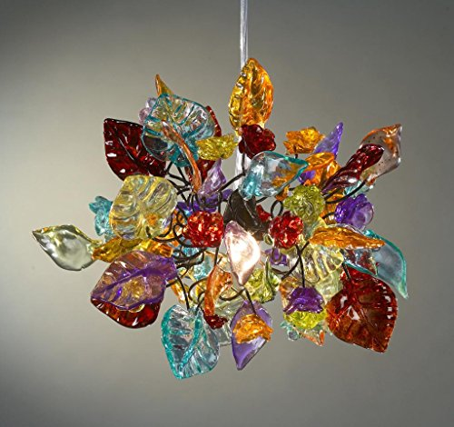 Chandalier Ceiling Lights Colorful leaves and flowers - Decorations pandent light up for Living Room - Unique Lamps - Suspended Lighting - Kitchen lighting - Dining Room Lighting - Living Room Lighting