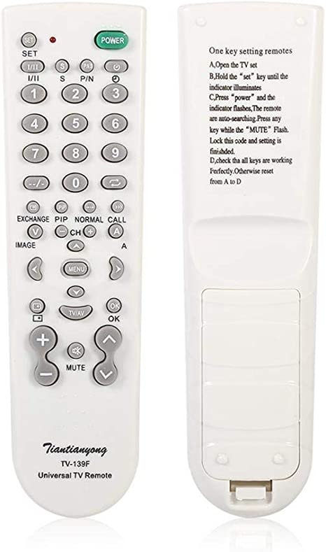 Mando TV Universal TV-139F Reemplazo para Samsung LG Sony Sharp Hisense Smart LCD LED TV: Amazon.es: Electrónica