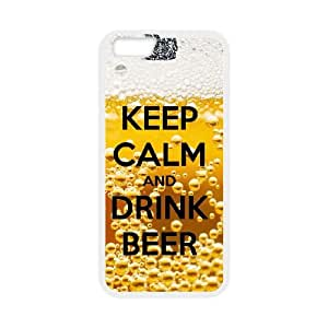 Keep Calm Drink Beer iPhone 6 4.7 Inch Cell Phone Case White JNCK4453